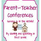 Are parent-teacher conferences right around the corner?  This 44-page package contains helpful resources for before, during, and after parent teach...