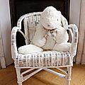 ϑ fauteuil en osier enfant ϑ