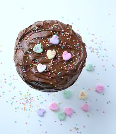 Conversation Heart Chocolate Cake | Passion 4 baking :::GET INSPIRED:::