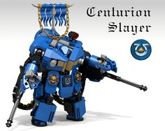 https://flic.kr/p/kUDtkC | Ultramarines Centurion Slayer (Custom Modification) | Yeah, I know I said I wasn't going to post WH40K, but that's not a replica of a miniature. I had that chest built even before I made my Tau Broadside Battlesuit. It wasn't really accurate to those Centurions and I was going to scrap it, but then I thought it deserved its chance to be. This modification is meant to be faster and has some powerful reactor thing on the back... Not sure if there is any analogue of…