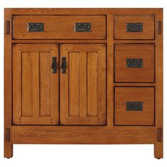 "Signature Hardware 36"" American Craftsman Vanity Cabinet Rustic Oak #SignatureHardware"