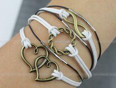 Bronze karma infinity bracelet bronze bracelets bracelets bracelets heart to heart of male and female friend's gift