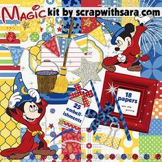 Free Disney Scrapbooking Kit - Magic, Fantasmic, Philharmagic Inspired