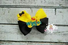 Emma wiggles inspired hair bow by Tippy Toes Creations. Wiggles Birthday, Wiggles Party, The Wiggles, Birthday Fun, Birthday Parties, Diy Baby Headbands, Diy Hair Bows, Diy Bow, Diy Headband