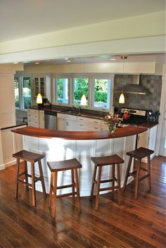 This Island Is Part Of Our Full House Renovation. Designed And Completely  Build By The. Round Kitchen ...
