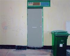 Narbi Price Untitled Grey Door Painting, 2009 - 2010 Courtesy of GalleriaSIX, Milan 120 x 150 x Acrylic on Canvas Urban Landscape, Landscape Art, Grey Doors, Built Environment, Painted Doors, Contemporary Artists, Locker Storage, Fine Art, 50 Shades