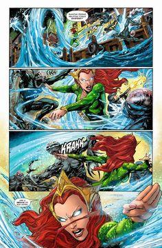 Aquaman comic page Marvel Dc Comics, Mera Dc Comics, Aquaman Dc Comics, Dc Comics Women, Dc Comics Superheroes, Dc Comics Art, Fun Comics, Superhero Characters, Dc Comics Characters