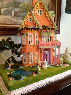 The Pastel World of Easter Village Houses Putz Houses, Village Houses, Gingerbread Houses, Miniature Crafts, Miniature Houses, Easter Crafts, Easter Ideas, Easter Decor, Christmas Crafts