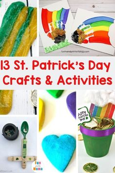 13 St. Patrick's Day Crafts and Activities for Kids of All Ages - Fun with Mama St Patrick's Day Crafts, Holiday Crafts For Kids, Craft Projects For Kids, Easter Crafts For Kids, Holiday Fun, Kid Crafts, Craft Ideas, St Patrick Day Activities, Spring Activities