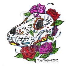 29 Trendy Tattoo Dog Memorial Day Of The Dead Arrow Tattoos, Skull Tattoos, Dog Tattoos, Skull Tattoo Design, Skull Design, Day Of The Dead Mask, Dog Skull, Tattoo Flash Sheet, Mens Shoulder Tattoo