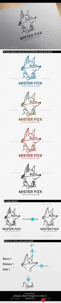 Fox Logo — Vector EPS #smart #shop • Available here → https://graphicriver.net/item/fox-logo/14230237?ref=pxcr