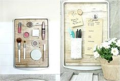 Transform a simple Dollar Store cookie sheet into a handy magnetic organizer with a few simple supplies. Use this DIY organizing solution anywhere in your house! Rose Bowl, Dollar Store Crafts, Dollar Stores, Decorative Magnetic Board, Magnetic Boards, All You Need Is, Magnetic Spice Jars, Diy Organization, Organizing Ideas