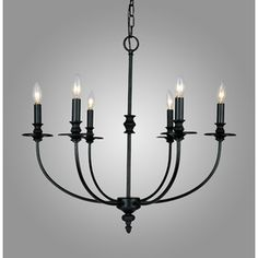 Westmore Lighting 6-Light Hartford Oil Rubbed Chandelier    $218.00