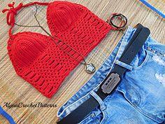 Crop Top Crochet Pattern - Pattern no 35
