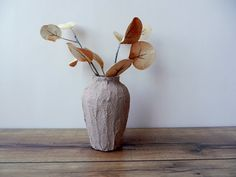 Pale Taupe bud vase / tan brown Vase / taupe home decor / stained concrete vase on Etsy, $16.00