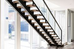 S&A Stairs – Park Street – Decorating Foyer Timber Staircase, Wood Stairs, Stair Railing, Staircase Design, House Staircase, Staircase Remodel, Staircase Ideas, Railings, Brisbane