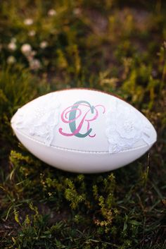 Bridal Football With Initials