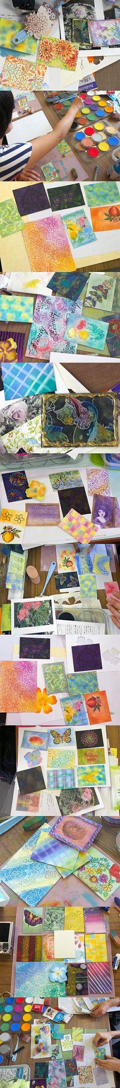 "Pan Pastel Workshop ""Coloring for stamping"" vol.1"