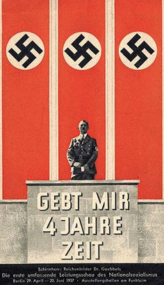 """Give me four years' time"", photomontage poster, 1937"