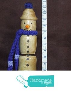 Woodturned snowman with crochet scarf. from A Burning Ambition https://www.amazon.co.uk/dp/B01MSO05J8/ref=hnd_sw_r_pi_dp_tJEmybMS9D4P1 #handmadeatamazon