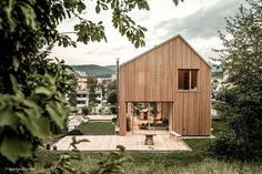 "Tour This ""Low-Tech,"" Wood-Clad Home in Vienna Craftsman Exterior, Modern Exterior, Cabin Design, House Design, Japanese Countryside, Clad Home, Wood Staircase, Ceiling Light Design, Wood Architecture"