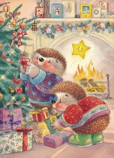 Hedge Hog Christmas ~ marlodeedesigns
