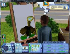 15 Ways The Sims Are Just Like You- They cant paint