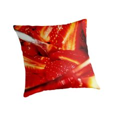 Fragole ! Strawberries ! - pillow - by vampyba