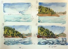 Labor Day weekend on Lake Shasta   Sketch Away: Travels with my sketchbook
