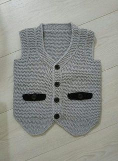 Recipe Of Groom& Vest With Knitted Pocket Cover Ornament As A Haraşo. 12 years - Canan Usta - - Recipe Of Groom& Vest With Knitted Pocket Cover Ornament As A Haraşo. Knitted Baby Cardigan, Baby Pullover, Cardigan Pattern, Baby Boy Knitting Patterns, Baby Hats Knitting, Knitting For Kids, Baby Boy Vest, Baby Pants, Crochet Beret