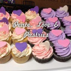 Valentine's Day cupcakes  Peace, Love & Pastries
