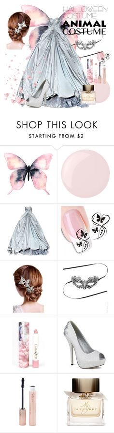"""""""Butterfly"""" by riley-jay ❤ liked on Polyvore featuring Essie, Zac Posen, 16 Braunton, LAQA & Co., Forever 21, Burberry, Halloween, butterfly, 60secondstyle and animalcostume"""