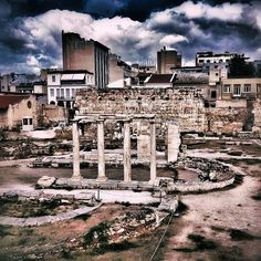 Hadrian's Library in Athens, Greece Cost of admission is included in Acropolis ticket.