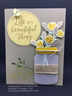 Patti MacLeith- Papercrafts by Patti Jars of Love Bouquet for August 2017 Pals Blog Hop