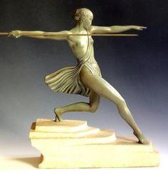 Fayral (pierre le faguays) Art Deco sculpture circa 1925 Max Le Verrier