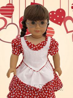 Valentine's Sweetheart Dress and Apron  By Nora's Room for Kindred Thread