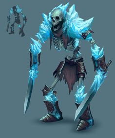 ArtStation - Frozen Maze - Ice Skeleton warrior, David Franco
