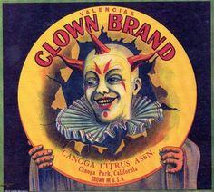 Clown Brand Citrus,  Canoga Park, CA