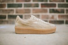 Puma Rihanna Fenty Creepers Gum/Oatmeal Authentic with receipt. Will be shipped as soon as I receive them from Puma web store or Shiekhshoes Puma Shoes Sneakers Puma Suede, Puma Creepers, Air Max Thea, Cute Shoes, Me Too Shoes, Rihanna Creepers, Fenty Creepers, Basket Mode, Fashion Clothes