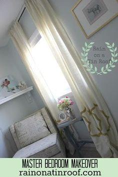 Rain on a Tin Roof: Master Bedroom Makeover Series: Window #BedRoom #bedroom design