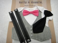 Baby Bow Tie and Suspenders Baby Tie Onesie Baby by NoahsBoytiques, $25.00