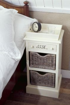 Ugh this nightstand. The stupid SHHH letters, what is that the vibrators & whips drawer? Rivera Maison, Ideas Vintage, New Room, Dream Bedroom, Apartment Living, Getting Organized, Home Furniture, Sweet Home, Bedroom Decor