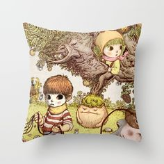between us Throw Pillow