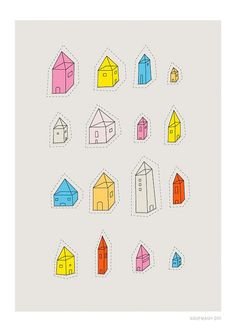 Transparent Houses Print by JudyKaufmann on Etsy