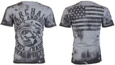 Archaic AFFLICTION Men T-Shirt RACER American Customs USA FLAG Biker M-3XL $40 b #Affliction #GraphicTee