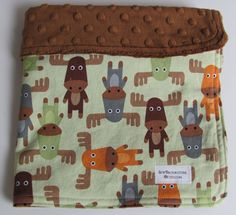Quilt fabric? Ann Kelle's Woodland Pals Moose Fabric and Brown by sewbrookstone