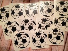 Personalized Soccer Decal Custom Car Decal by BlueTimesTwo on Etsy, $3.00
