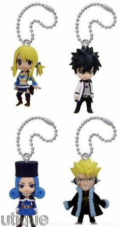 Anime Fairy Tail NEW SERIES figure strap x1 ONLY Jubia Laxus Gray Lucy