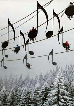 musikaaliset hiihtohissit