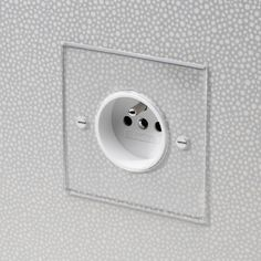 Invisible French 16amp Socket with White Insert